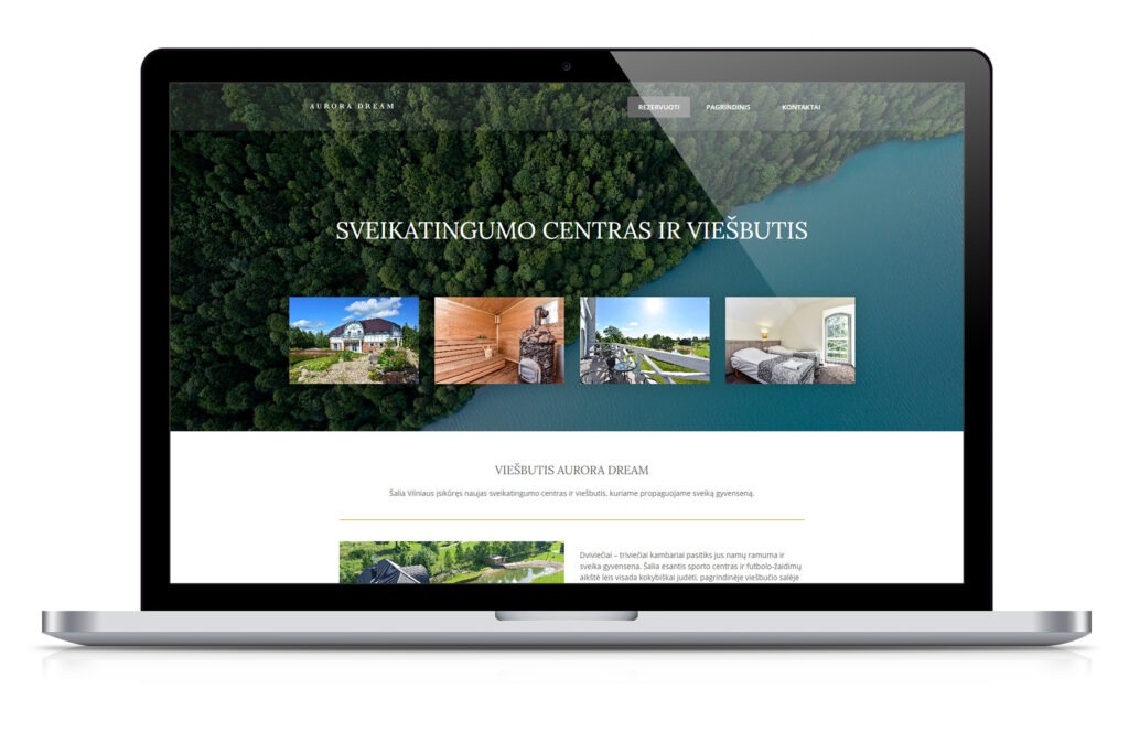 Viešbučio internetinė svetainė