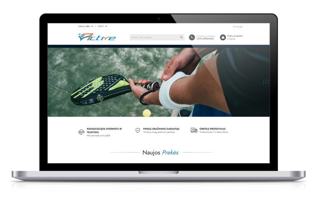 Sporto prekių elektroninė parduotuvė